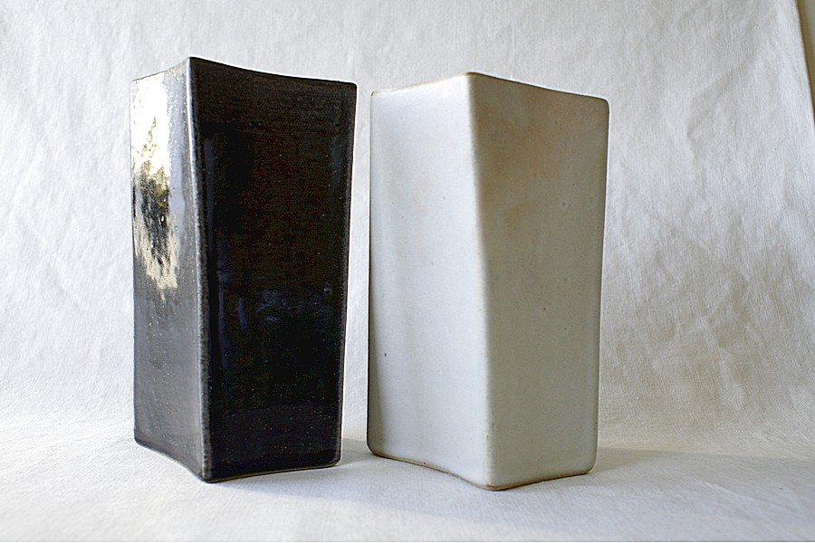 Rectangular Vase Pair